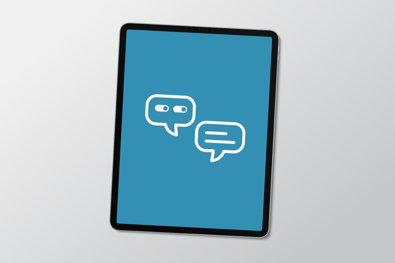 icoon voor observeren en een gesprek