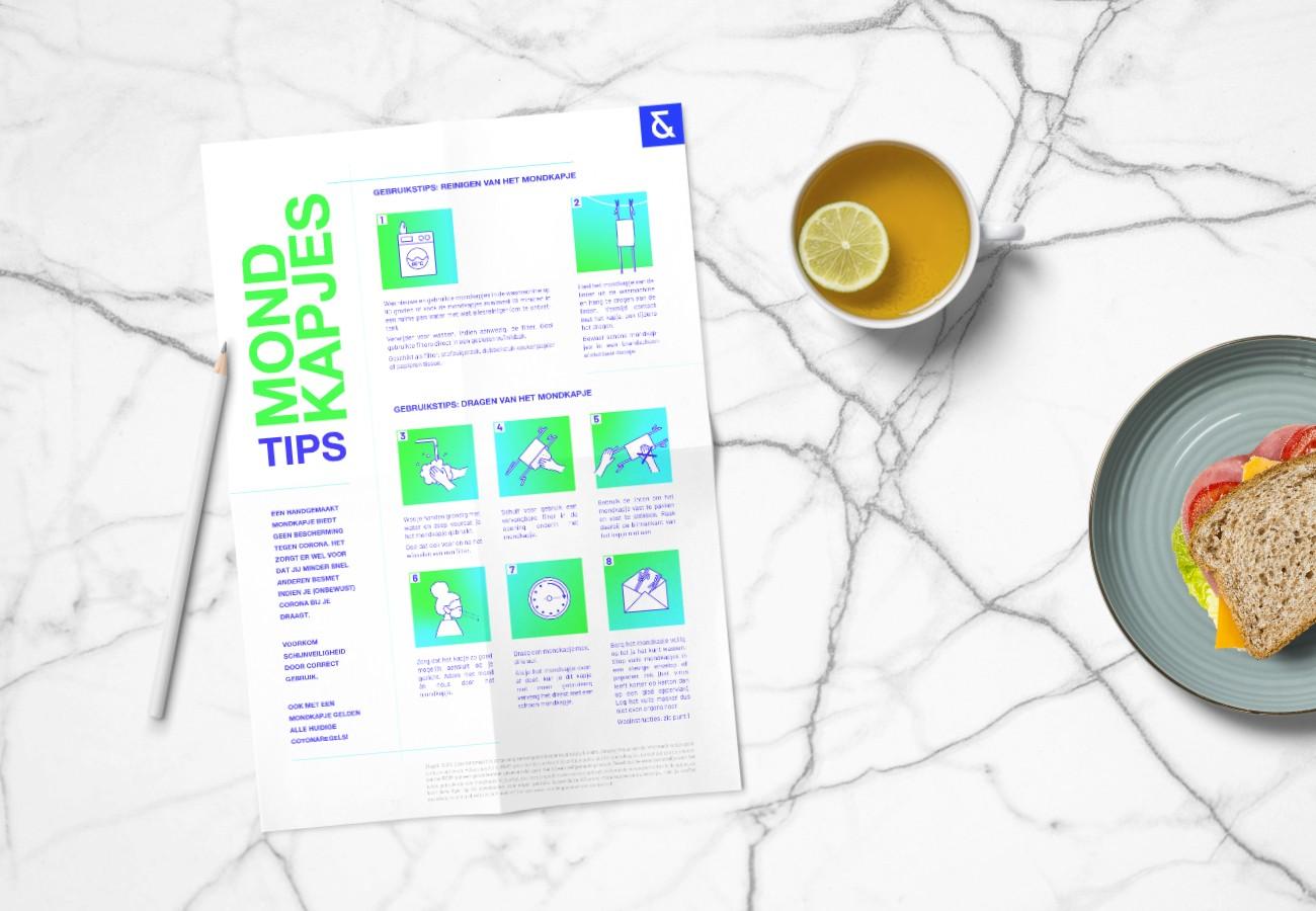 Duidelijke informatie tijdens corona: infographic gebruikstips stoffen mondkapjes
