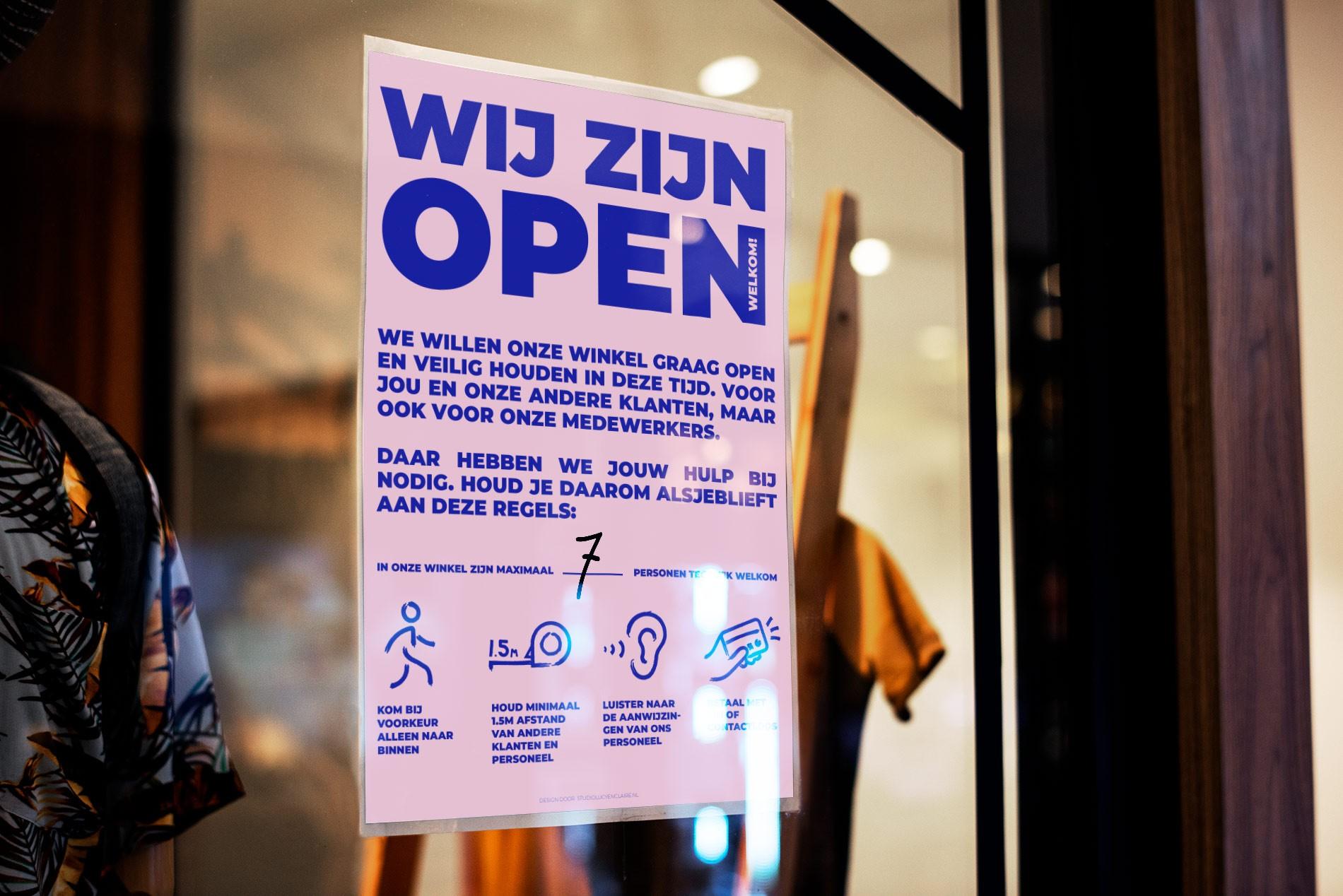 Duidelijke informatie tijdens corona: gratis poster over corona maatregelen voor winkels