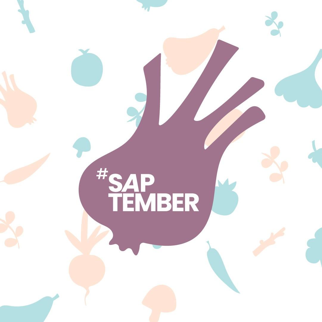 logo #saptember op patroon