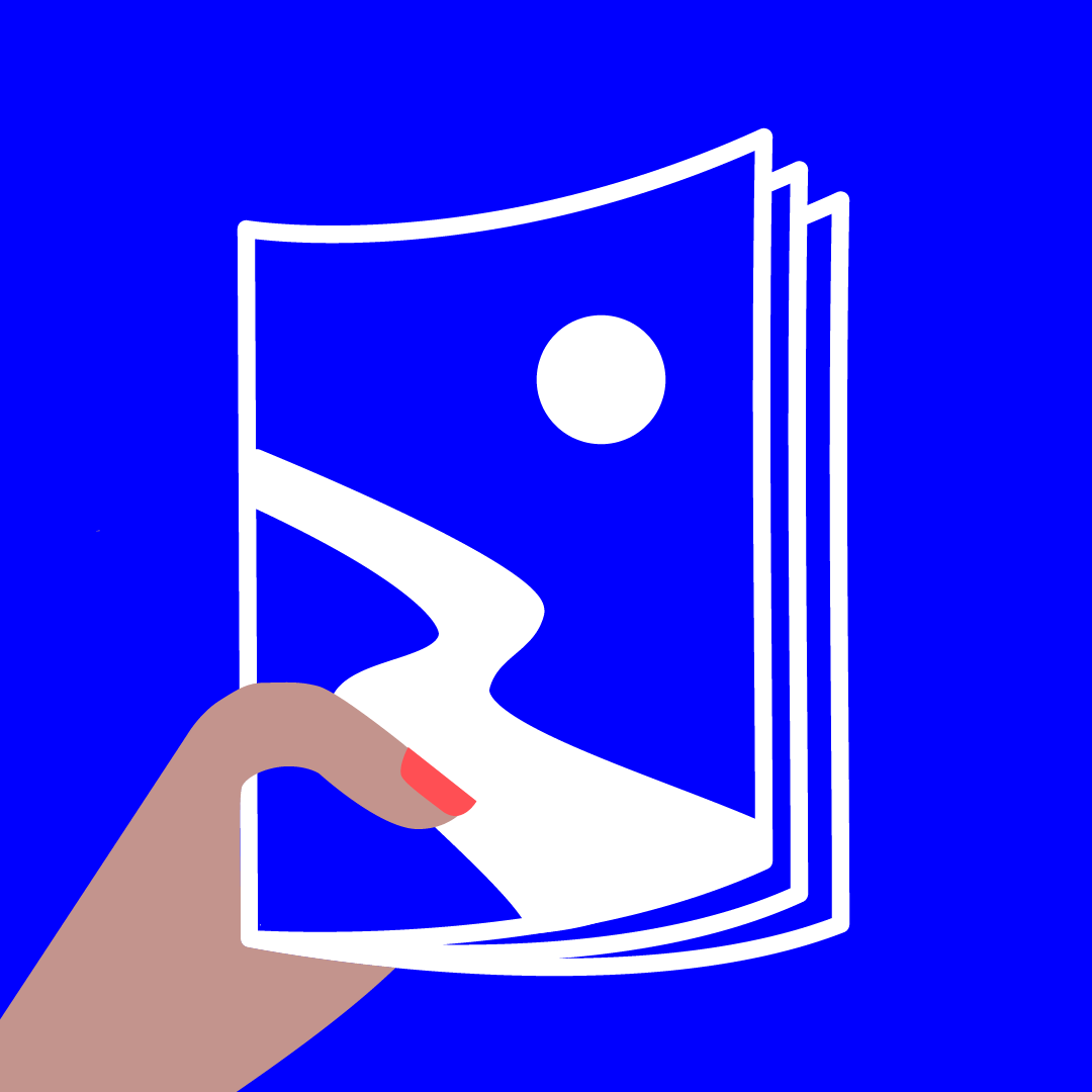 illustratie bij magazine design