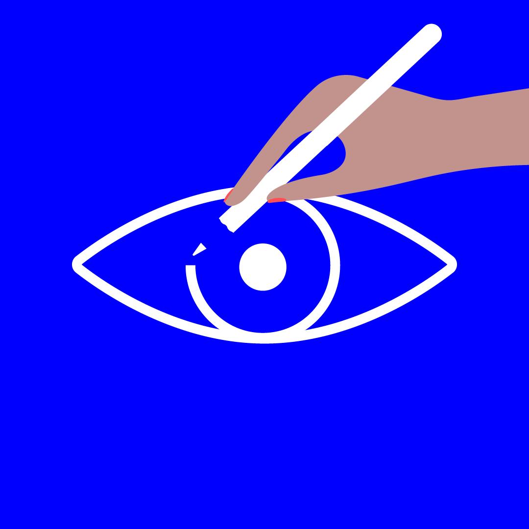 illustratie bij design iconen